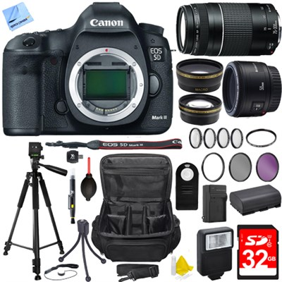 EOS 5D Mark III 22.3 MP Full Frame CMOS Digital SLR Camera Body Super Bundle
