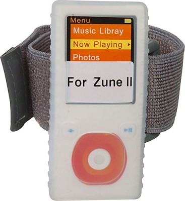 Protective silicone skin for Microsoft Zune 2nd gen (Clear) w/ Lanyard