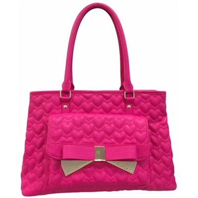 Be Mine Forever Tote - Fuchsia