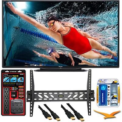 LC-60LE757U Aquos 60-Inch 3D Wifi 240Hz 1080p LED TV Plus Wall Mount Bundle