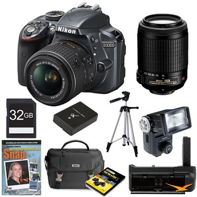 D3300 DSLR HD Grey Digital Camera Baby and Family Photographer Bundle