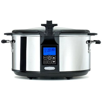 14124 Programmable Slow Cooker with Searing Pot, 6.5-Quart, Stainless Steel