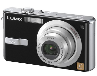 DMC-FX7 (Black) Lumix Ultra-Compact 5 Megapixel Digital Camera w/ 2.5` LCD
