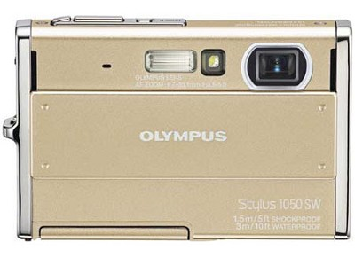Stylus 1050SW 10MP Shockproof Waterproof Digital Camera Champagne - REFURBISHED