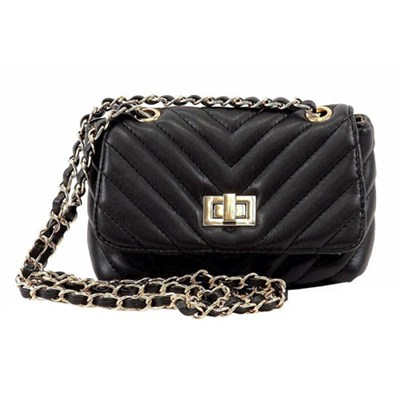 BCHAPLIN Quilted Crossbody Bag - Black