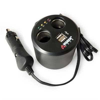 EL2537-5 Twin USB and 12-Volt DC Cup Holder Power Adapter - OPEN BOX