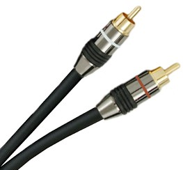 Stereo Audio Interconnect RCA to RCA 6 Feet (1.8m)