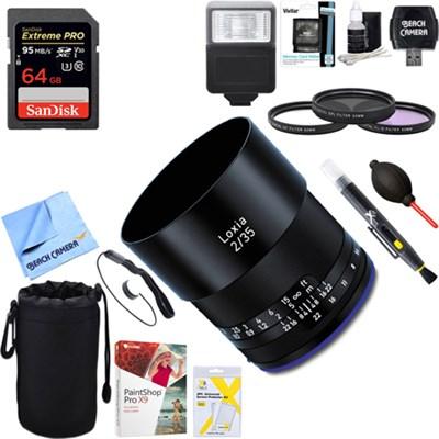 Loxia 35mm f/2 Biogon T Lens for Sony E Mount + 64GB Ultimate Kit