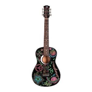 Aurora Imagine Mini Acoustic Guitar, Black