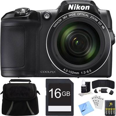 COOLPIX L840 16MP Digital Camera Zoom Lens Black Bundle (Certified Refurbished)