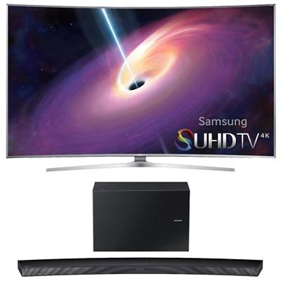 UN55JS9000 Curved 55` 2160p 3D 4K SUHD LED TV HW-J7500 Soundbar Bundle