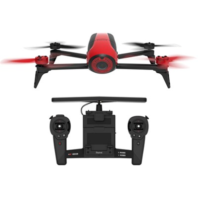 Bebop 2 Quadcopter Drone with HD Video Skycontroller Bundle (Red) PF726100