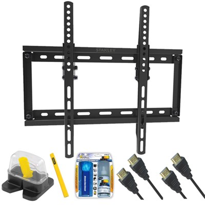 DIY Basics Medium Size Tilt TV Mount & Set Up Kit for 23`-55` TVs up to 65LB