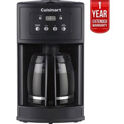 12-Cup Programmable Black Coffeemaker Refurbished + 1 Year Warranty