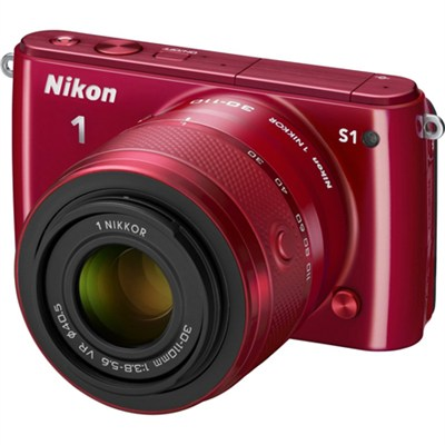 1 S1 10.1MP Red Digital Camera with 11-27.5mm and 30-110mm Lenses