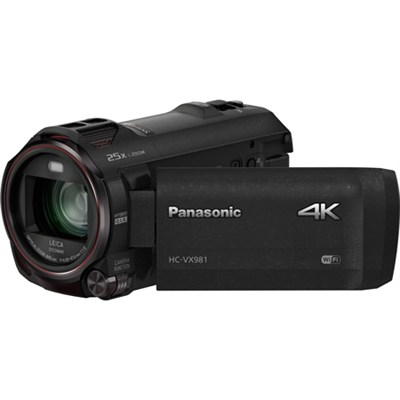 HC-VX981K 4K Ultra HD Camcorder with Wi-Fi, Twin Camera, Photo Features - Black