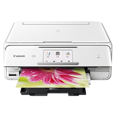PIXMA TS8020 Wireless All-In-One Printer with Scanner and Copier, White