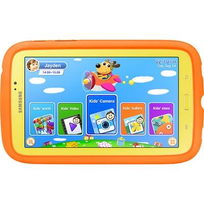 Galaxy Tab 3 - 7.0` Kids Edition (Yellow w/ Orange Bumper Case) - OPEN BOX