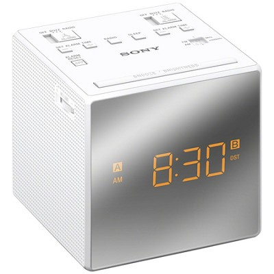 Alarm Clock with FM/AM Radio, White