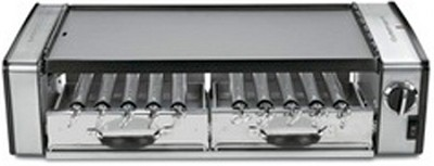 Griddler Grill Centro 1700-Watt 2-Tier Grill/Griddle w/ Rotating Skewers - GC-17