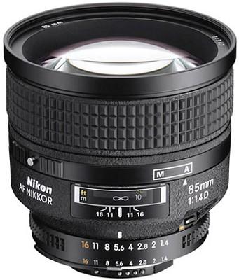 85mm f/1.4D IF AF Telephoto Nikkor Lens w/ Hood (Imported)