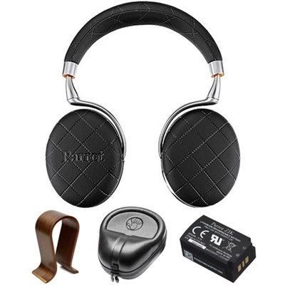 Zik 3 Wireless Noise Cancelling Bluetooth Headphones Black w/Stand Bundle