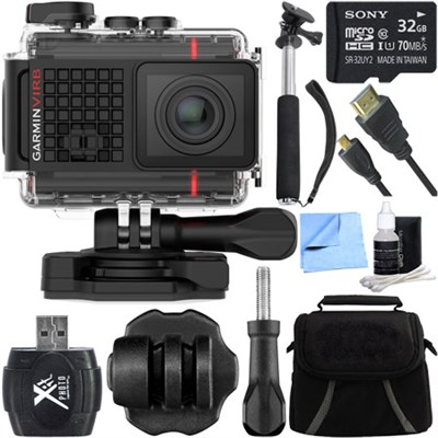 VIRB Ultra 30 HD 4K Bluetooth Action Camera w/ Built-in GPS Tripod Mount Bundle