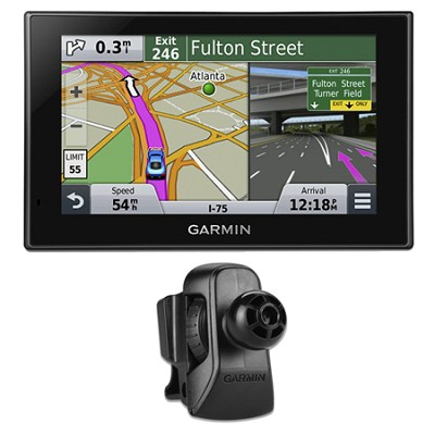 nuvi 2599LMT Advanced Series 5` GPS Navigation w Lifetime Maps Vent Mount Bundle