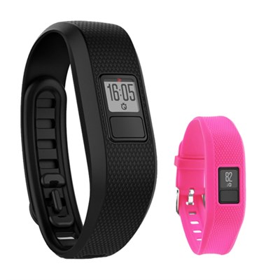 Vivofit 3 Activity Tracker Fitness Band w/ Replacement Band (Rose)