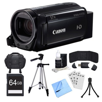 VIXIA HF R700 Black Camcorder, 64GB Card, and Accessories Bundle