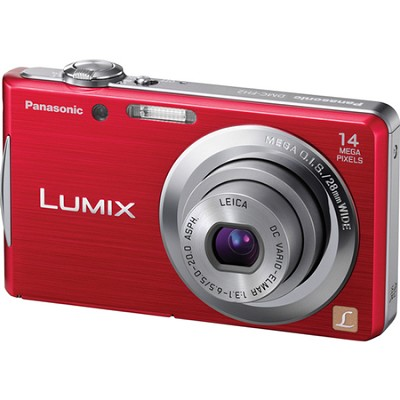 Lumix DMC-FH2 14MP Red Compact Digital Camera w/ 720p 30 fps HD Video