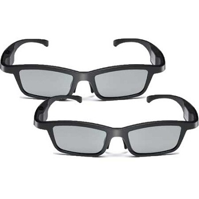 AG-S350 Active-Dynamic Shutter 3D Glasses 2-Pack