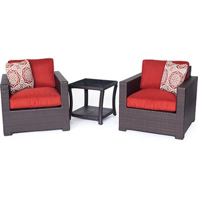 Metro3pc Seating Set: 2 Side Chairs 1 Side Table