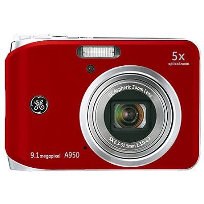 A950 9.1MP 2.5` LCD 5x Zoom Digital Camera (Red)