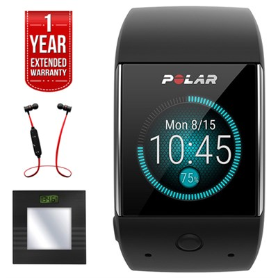 M600 Sports GPS Smart Watch - Black + Bluetooth Scale and Headphone Bundle