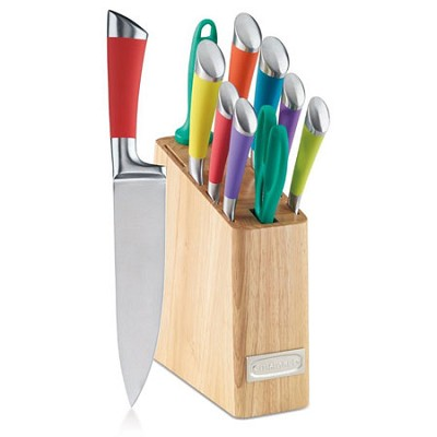 11-Piece Arista Collection Cutlery Knife Block Set, Stainless Steel