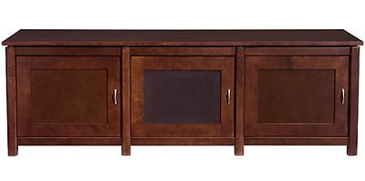 WFV66 - Woodbrook Triple Wide 3 Shelf A/V Cabinet, TVs up to 65` (Mocha Finish)