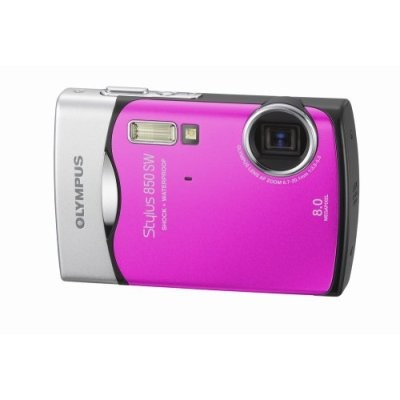 Stylus 850 SW 8MP Shockproof Waterproof Digital Camera (Pink)