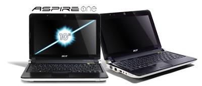 Aspire one 10.1` Netbook PC - White (AOD250-1515)