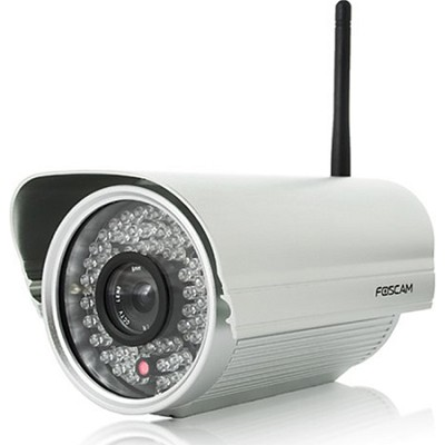 FI8905W Outdoor Wireless/Wired IP Camera 12 mm Lens - Silver