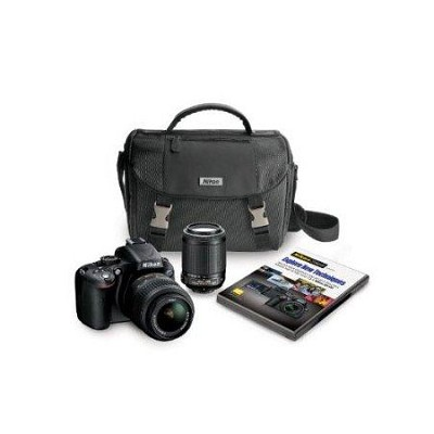 D5100 DX-format Digital SLR Body w/ 18-55mm VR Lens & 55-200VR, Case, DVD