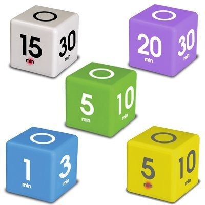 TimeCube Simple Timers - Set of 5 (DF-34567)