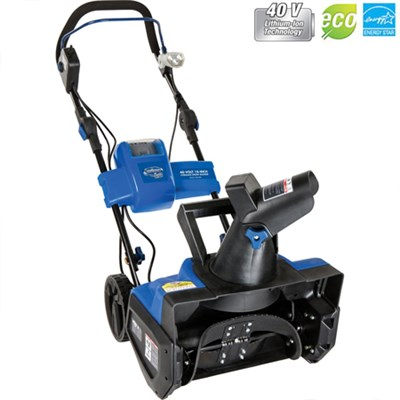 Ion Cordless Single Stage Snow Blower+Rechargeable Battery-Certified Refurbished