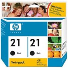 PS HP 21 2-pack Black Inkjet Print Cartridges