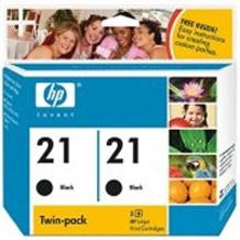 PS HP 21 2-pack Black Inkjet Print Cartridges