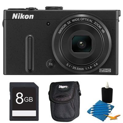 COOLPIX P330 Black Digital Camera 8GB Bundle