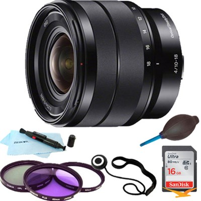 SEL1018 - 10-18mm f/4 Wide-Angle Zoom Lens Essentials Bundle