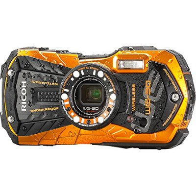 WG-30W Digital Camera with 2.7-Inch LCD - Flame Orange