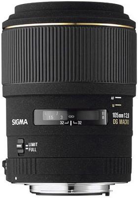 Telephoto 105mm f/2.8 EX DG Macro Autofocus Lens for Nikon AF