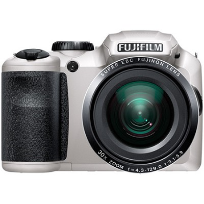 FinePix S6800 16 MP 30x Wide Angle Zoom Digital Camera - White